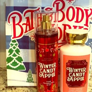 A pair of Bath and Body works body lotion/ scent